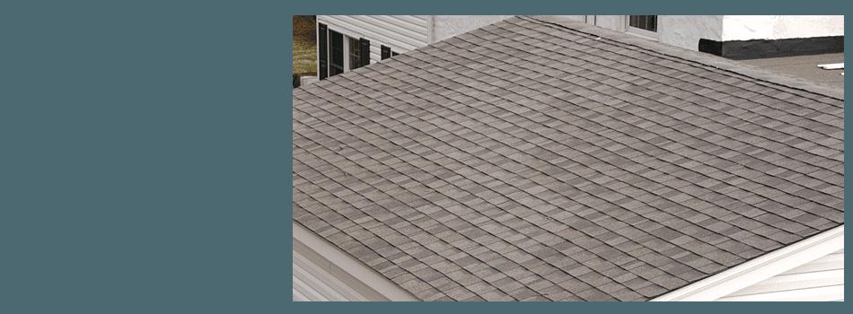 Grey shingle roofing