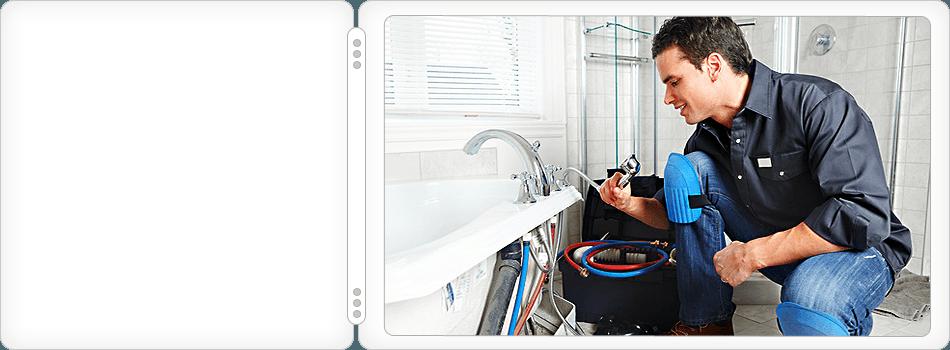 Plumber repairing the sink