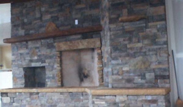 Fireplace With Masonry Work