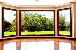 Wood modern style windows