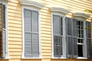 White and gray windows