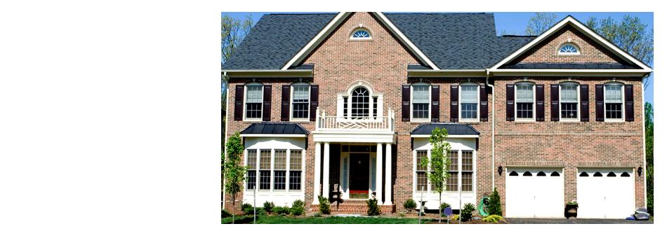 House with vinyl windows