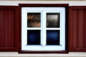 Brown and white windows