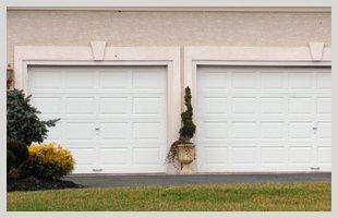 Repaired garage doors
