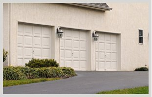 Recently repaired garage doors