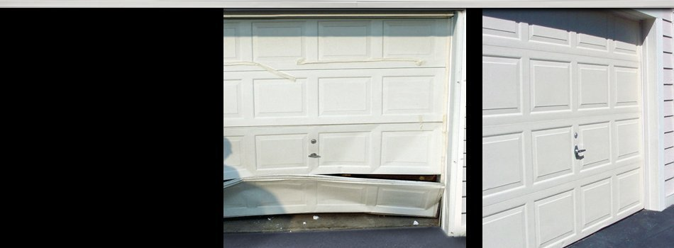 Repairing a broken garage door