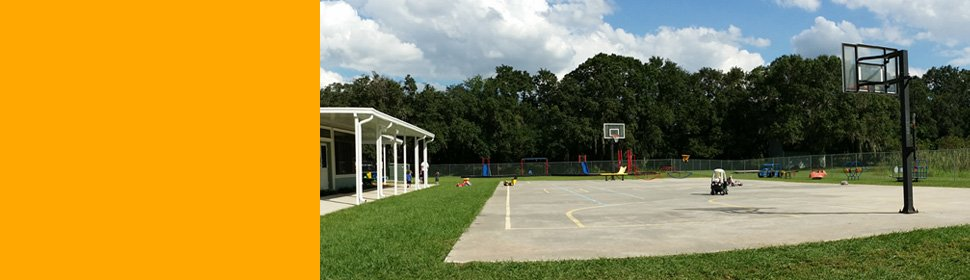 A + Learning Center's openground basketball court