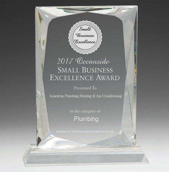 2017 Oceanside small business excellence award