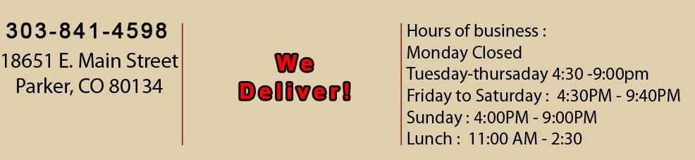 Delivery | Parker, CO | August Moon Asian Grill & Bar | 303-841-4598