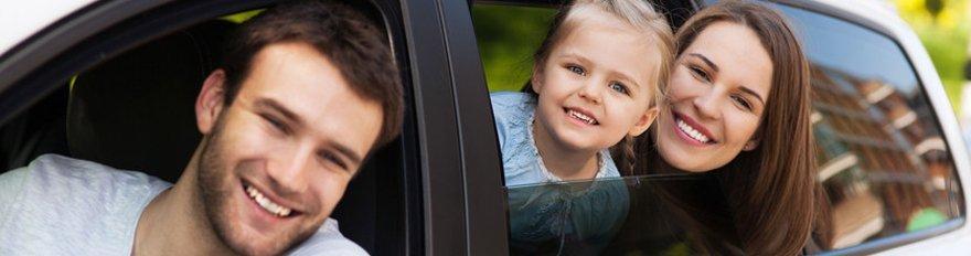 Family in car