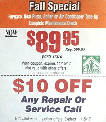Bill Reynolds Heating & Air Conditioning Fall Special