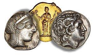 Three antique coins