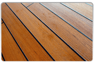 red colored wood floors