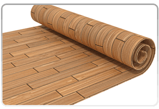 rolled up faux wood flooring