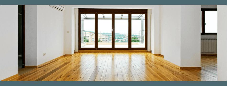 wide wood flooring room