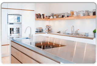 shiny kitchen countertops