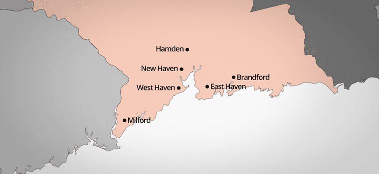 Heritage Taxi service area map