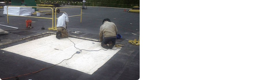 Man checking out the roof