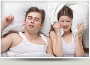 Wife feeling disturb with her husband snoring