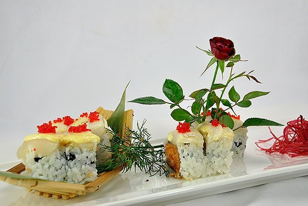 Sushi in plate