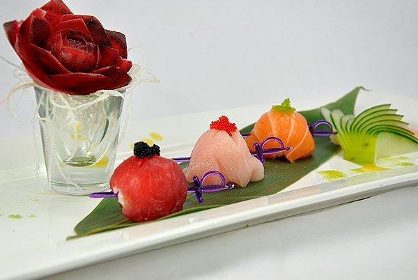 Tri-Color Sushi Ball