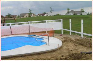 Constructing Paved Swimming Pool