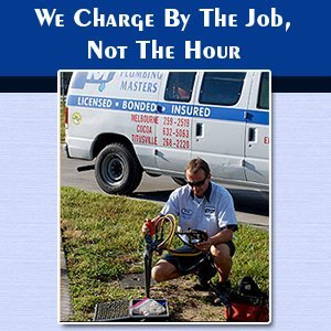 Plumber - Melbourne, FL - Plumbing Masters - Service Truck - We Charge By The Job, Not The Hour