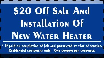 High Efficiency Water Heater - Melbourne, FL - Plumbing Masters - $20 Off Sale And Installation Of New Water Heater * If paid on completion of job and presented at time of service. Residential customers only. One coupon per customer.