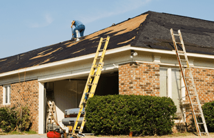 Roof damage repairing
