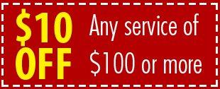 $10 OFF Any service of $100 or more | Grand Rapids, MI | Petersen Plumbing, Inc. | 616-361-6635