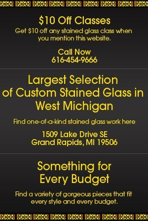 Stained glass classes - Grand Rapids, MI - Rainbow Resources Art Glass Inc.