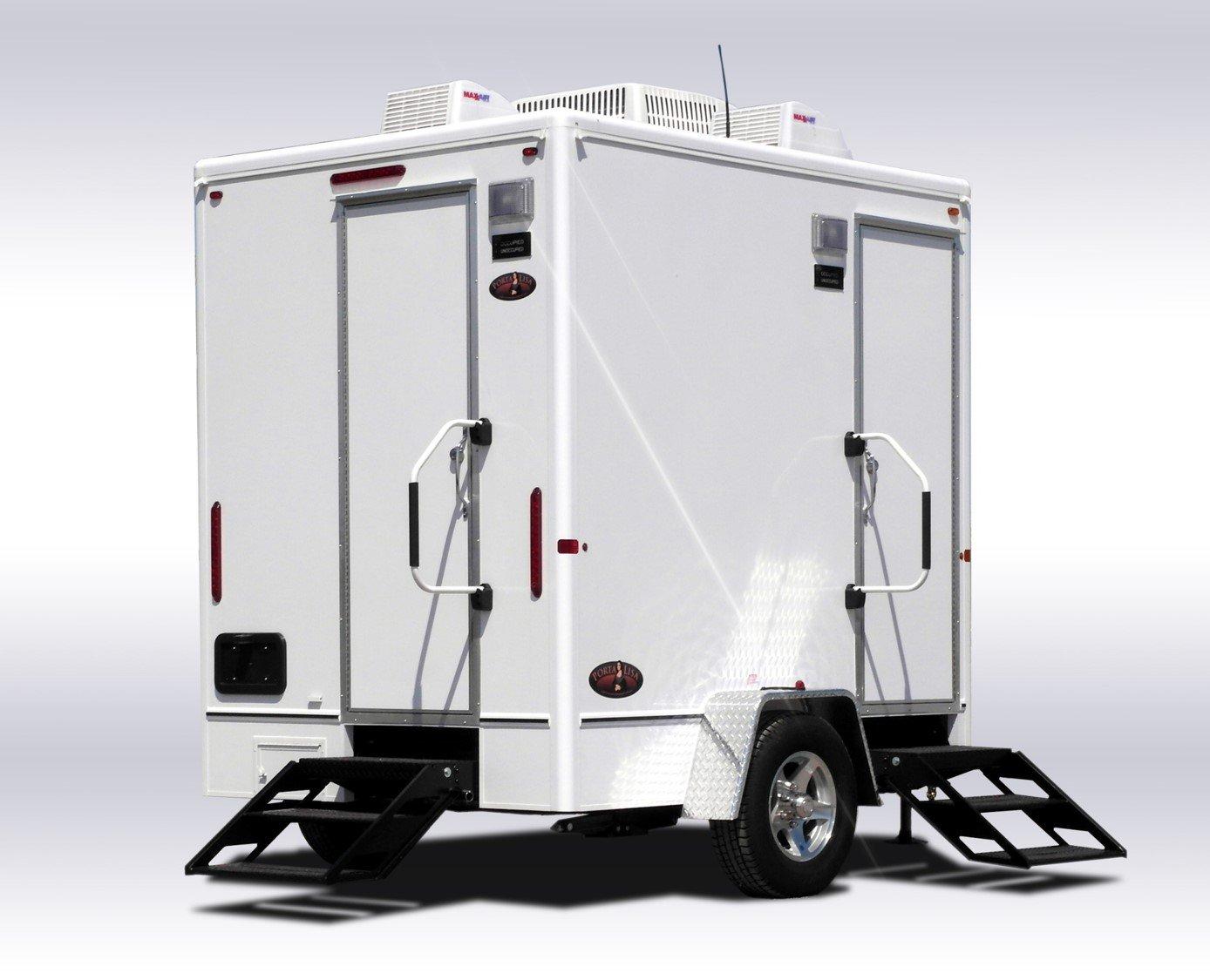 Restroom trailers portable toilet rentals allegan mi for Bathroom trailer rental
