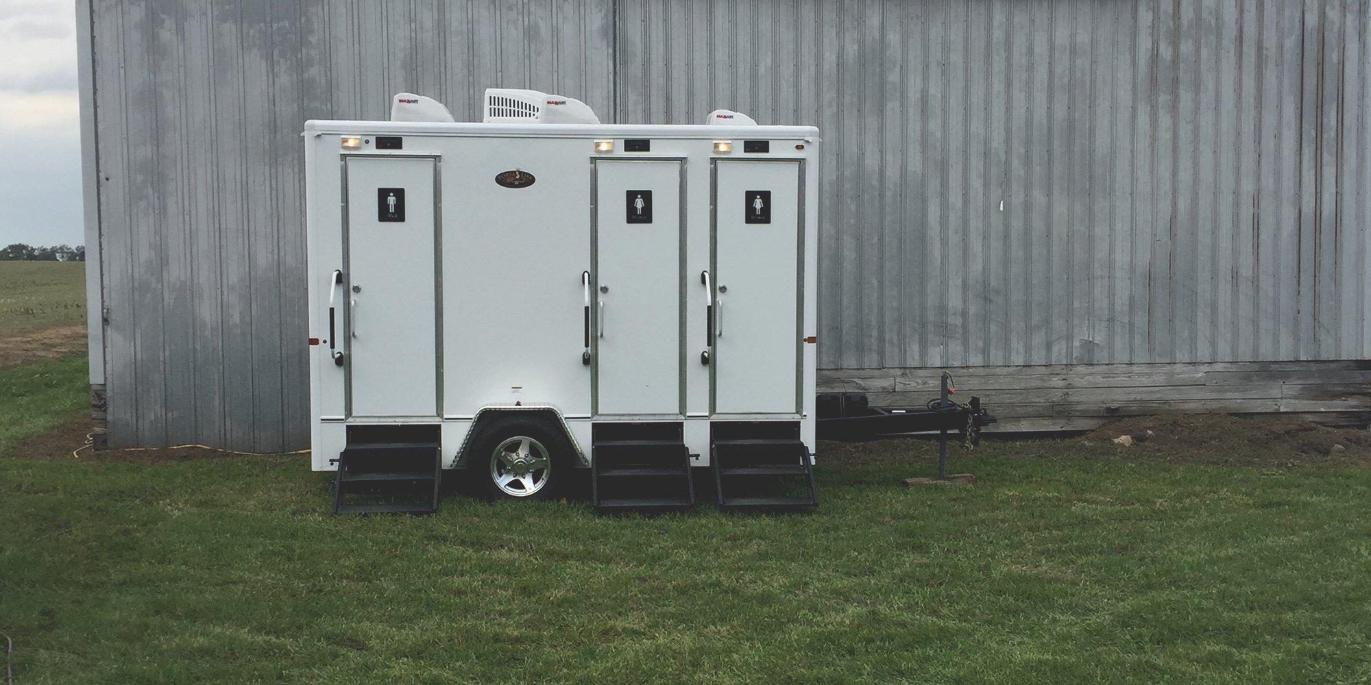restroom trailer portable