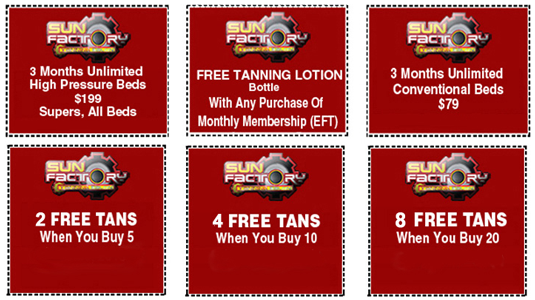 Tanning Specials - Sun Factory Tanning Salon - Marysville, WA