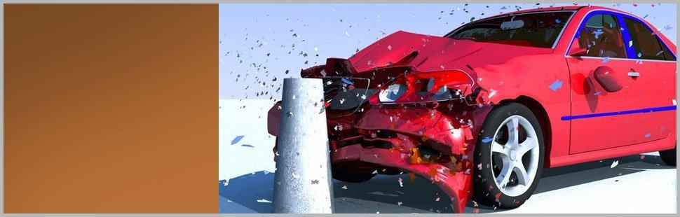 Car hits the pole