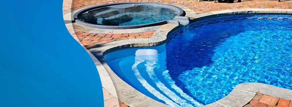 Rounded swimming pool