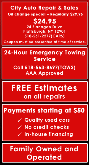 24 Hour Oil Change >> Towing Plattsburgh Ny City Auto Repair Sales
