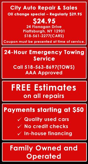 Towing - Plattsburgh, NY - City Auto Repair & Sales