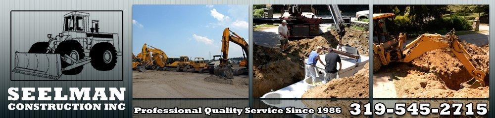Excavation System - Oxford, IA - Seelman Construction Inc