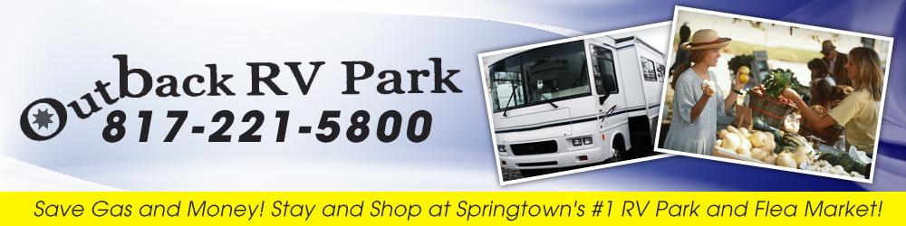 RV Parking Area Springtown, TX - Outback RV Park