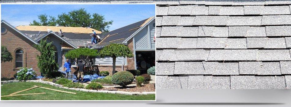 Roofing contractors installing new roof