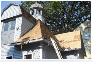 Roof repairs of an building
