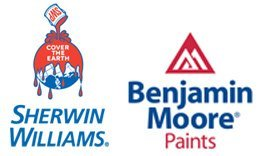 Sherwin Williams, Benjamin Moore Paints