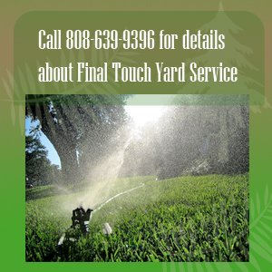 lawn care - Kauai, HI - Final Touch Yard Service - yard care service - Call 808-639-9396  for details about Final Touch Yard Service