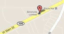 Simmons Lumber Co Inc 668 W. Main St. Henderson, TN 38340-2521