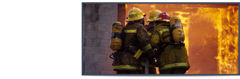 Firemen extinguish the fire