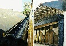 closeup view of truck dock