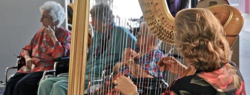 Therapeutic harp programs