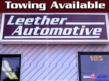Towing - Bristol, CT - Leether Automotive - Towing Available