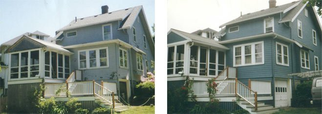 Before and after image of house